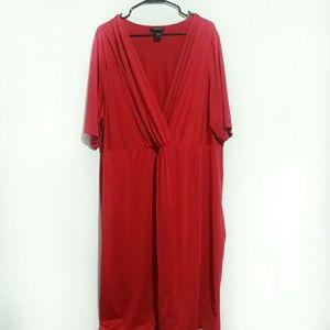 Lane Bryant Red Midi Dress Size 22/24